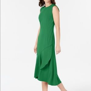 Calvin Klein Ruffle Hem Midi Dress 12